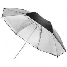 Studijski odbojni dežnik, srebrn 84 cm (W-12139)