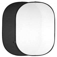Zložljivo foto ozadje Walimex 150x200cm , dvojno, črno/belo