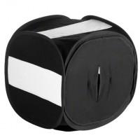 Svetlobni šotor walimex Pop-Up Light Cube 80x80x80cm, črn