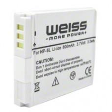 Baterija za Canon NB-6L, nadomestna Weiss
