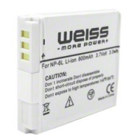 Battery for Canon NB-6L, subst. Weiss