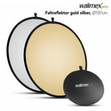 Walimex Foldable Reflector golden/silver, Ø107cm