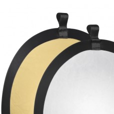 Walimex Foldable Reflector golden/silver, Ø56cm