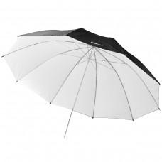 Studijski odbojni dežnik Walimex pro Reflex - bel/črn, 150 cm (W-17659)