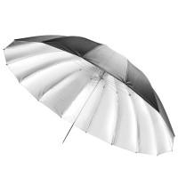 Studijski odbojni dežnik Walimex pro Reflex, črno/srebrn 180 cm
