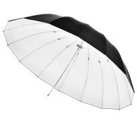 Studijski odbojni dežnik Walimex Reflex - bel/črn, 180 cm