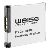 Original WEISS Battery for Canon NB-11L  compatible with Canon Ixus 125 HS / 240 HS / Canon PowerSh