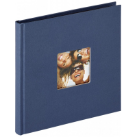 Photo Album Walther Fun blue, 18x18 cm, 30 black Pages, book bound, FA199L