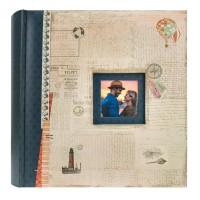 Foto album ZEP Mumbai Blue, za 200 fotografij 13x18 cm, Memo Album B57200BL