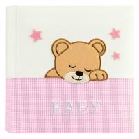 Otroški foto album za slike ZEP Elisa pink 24x24 cm, 20 strani, Baby Album DL2420PK