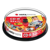 AgfaPhoto CD-R 80 / 700MB medij, 10 na osi, 52x, Cakebox