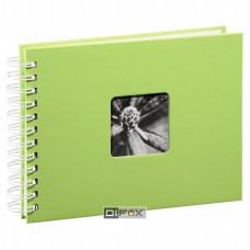 Photo Album Hama Fine Art Spiral kiwi 24x17, 50 white Pages, 2114