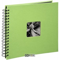 Photo Album Hama Fine Art Wire-O lime 28x24, 50 black Pages 2558