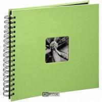 Foto album za slike Hama Fine Art, špiralni, Wire-O lime 28x24 cm, 50 črnih strani 2558