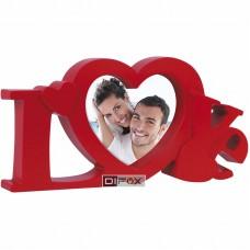 Foto okvir ZEP Marabella Red LOVE za fotografijo 10x10cm,  Portrait Z23R, srce (D-427107)
