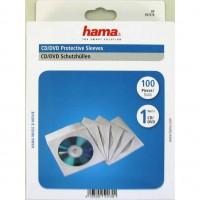 Hama CD/DVD papirnati ovitki, beli, SK 51174, 100 kos