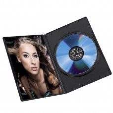 Hama Slim DVD ovitek za CD/DVD, črni, 7mm (D-659846-1)