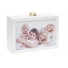 Hranilnik - šparovček s fotografijo 10x15cm, Deknudt Savings Box S66RR1, bel, lesen (D- 852320)