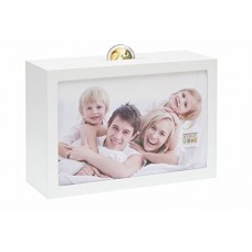 Deknudt Savings Box white 10x15 white wood, for one photo S66RR1, moneybox