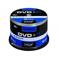 DVD+R 4,7GB 16x Speed, Cakebox, Intenso, 1x50