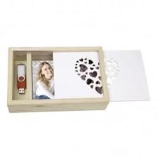Lesena škatla za shranjevanje fotografij in USB ključka ZEP Love Box USB 13x18 Wood CZ1257 (D-410615)