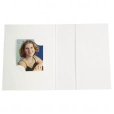 Mapa, etui, zgibanka, album za foto dokumente, bela,  3 velikosti, paket 100 kom
