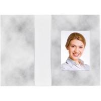 Mapa, etui, zgibanka, album za foto dokumente Cloud design, siva, 36x50 mm, paket 100 kom