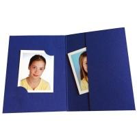 Mapa, etui, zgibanka, album za foto dokumente, modra,  3 velikosti, paket 100 kom