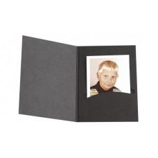 Mapa, etui, zgibanka, album za foto dokumente Profi-Line, črna,  3,5 x 4,5cm ( do velikosti 4,5 x 6 cm)