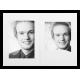 Mapa, zgibanka, album Daiber Portrait s passepartout 13x18 cm, bela silk