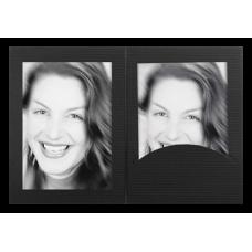 Mapa, zgibanka, album Daiber Portrait s passepartout 13x18 cm, črna (D-810283-1)