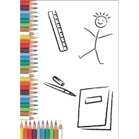 Mapa, zgibanka, album za 2 fotografiji do velikosti 15x20 cm, otroška, barvni svinčniki