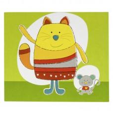 Folder, leaflet, childrens album Cat/Mouse, for 2 photos 13x18 cm (space for additional photos) (D-14-117665)