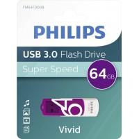 USB ključek Philips USB 3.0 64GB Vivid Edition Purple