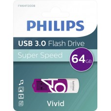 USB stick Philips USB 3.0 64GB Vivid Edition Purple