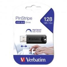 USB ključek Verbatim Store n Go 128GB Pinstripe, 3.0 črn