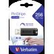 USB ključek Verbatim Store n Go 256GB Pinstripe, 3.0 črn
