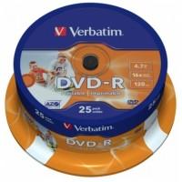 Verbatim DVD-R medij, 25 na osi, 4,7GB, 16x, wide printable