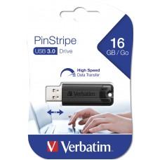 Verbatim Store n Go 16GB Pinstripe USB 3.0 black