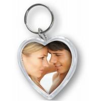 ZEP obesek za ključe s sliko v obliki srca   4x3,8 Resin Heart 7360PD