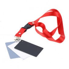 3-in-1 Digital 18% Gray / White / Black Card Set White Exposure Balance+Strap