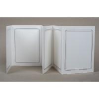 Mapa, zgibanka, album za 6 fotografiji 13x18 cm, bela, siva srebrna obroba