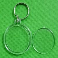 Okrogli obesek za ključe s sliko, akrilni, 38 mm