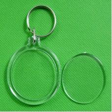 Okrogli obesek za ključe s sliko, akrilni, 38 mm (F-100018)