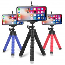 Selfie, video, GSM 2 In 1 Mini Flexible Octopus Tripod + Phone Holder Bracket Holders Stand for Cellphone