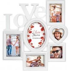 Okvir za slike ZEP Badalona Gallery 6 Photos Resin white XB28, ljubezen